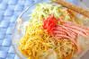 具たっぷり冷麺の作り方の手順