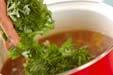 菊菜のトロミ汁の作り方2