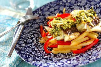 モロッコ風魚のソテー