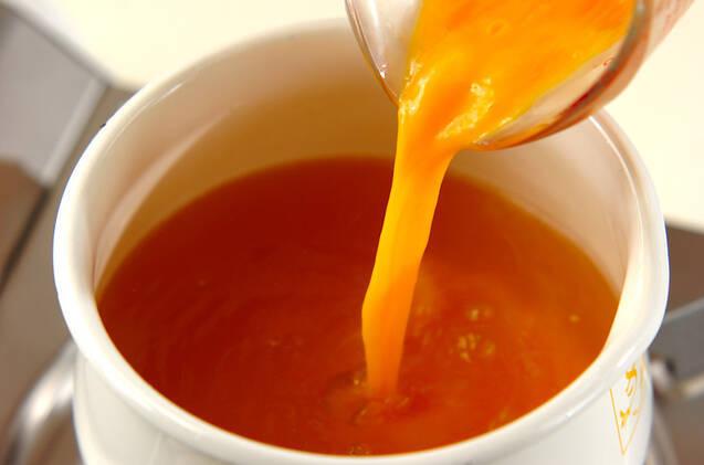 桜エビのかきたま汁の作り方の手順3