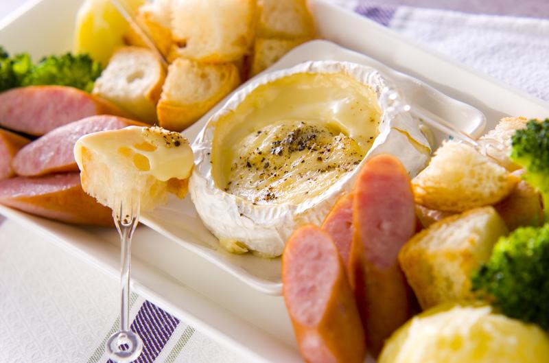 カマンベールチーズフォンデュの基本のレシピ