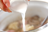 カリフラワーとベーコンのスープの作り方3