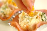 お花のポテトサラダの作り方1