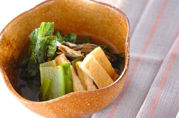 小松菜と揚げのサッと煮