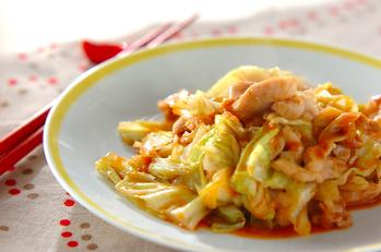 鶏と野菜のコチュジャン炒め