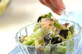 レタスとのりのサラダの作り方7