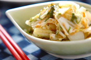白菜の梅肉和え