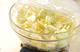 白菜の梅肉和えの下準備1