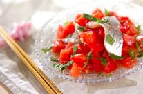 アジとトマトのアジアンサラダ
