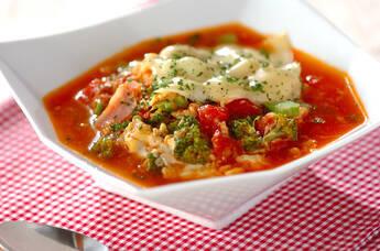 トマトチーズのスープご飯