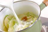キャベツの白いスープの作り方2