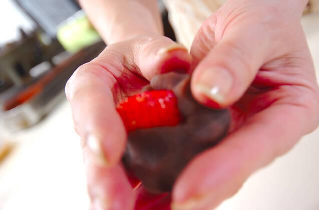 イチゴ大福の作り方の手順3