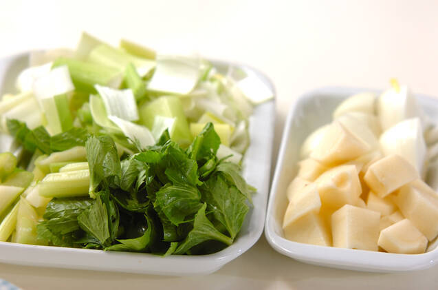 セロリのスープの作り方の手順1