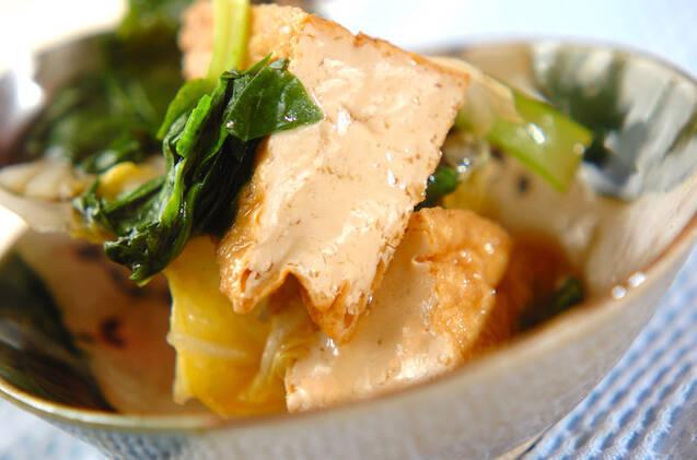 厚揚げと小松菜の煮浸しの作り方の手順7