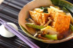 厚揚げと小松菜の煮浸し
