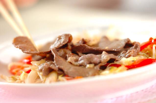牛たんのガーリック炒めの作り方の手順8