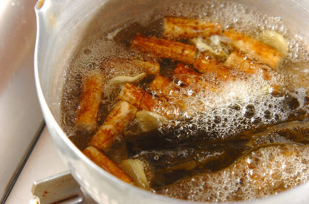 ブリアラとゴボウの煮物の作り方の手順5