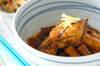 ブリアラとゴボウの煮物の作り方の手順