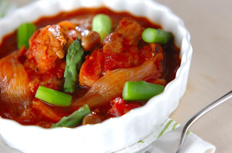 鶏肉のトマト煮の写真