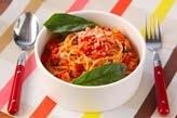 タコのトマト煮込パスタ