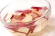 サツマイモのみそ汁の下準備1