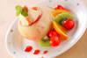 まるごと桃のアイス詰めの作り方の手順