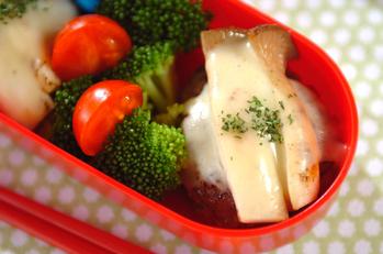 エリンギのチーズハンバーグ