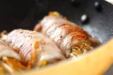 ゆでモヤシの豚肉ロールの作り方2