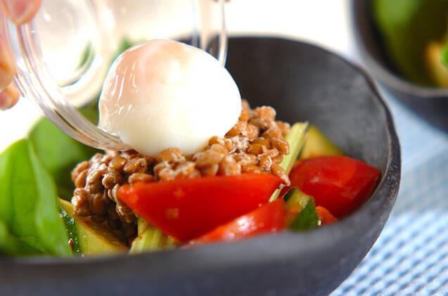 納豆キムチサラダの作り方の手順3