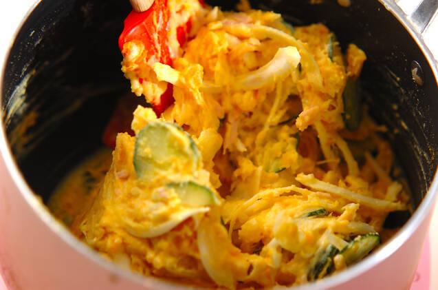 ポテトとカボチャのサラダの作り方の手順8