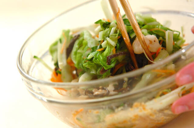 エビ入り白菜の甘酢和えの作り方の手順9