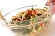 菊菜と油揚げのゴマ和えの作り方2