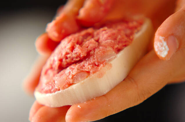レンコンのひき肉フライの作り方の手順8