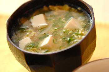 豆腐のかきたま汁