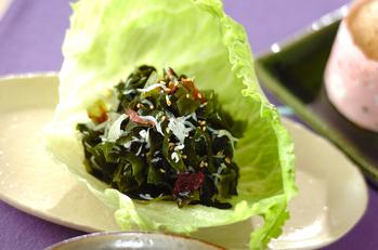海藻とシラスの酢の物