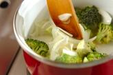 ブロッコリーのクリームスープの作り方1