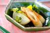 小カブとちくわの煮物の作り方の手順