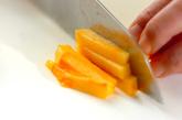 柿とヒジキの白和えの下準備1