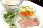 炊飯器でプラオ風チキンの炊き込みの下準備1