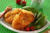 チキンとハムのチーズフライの作り方の手順