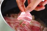 豚とホウレン草の卵とじの作り方2