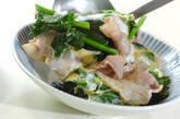 豚とホウレン草の卵とじの作り方4