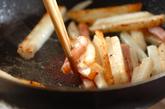 長芋とベーコンのソテーの作り方2