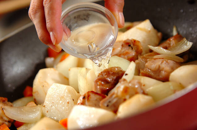 カブと鶏肉の和風グラタンの作り方の手順3