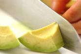 ソーセージとアボカドのサラダの作り方2