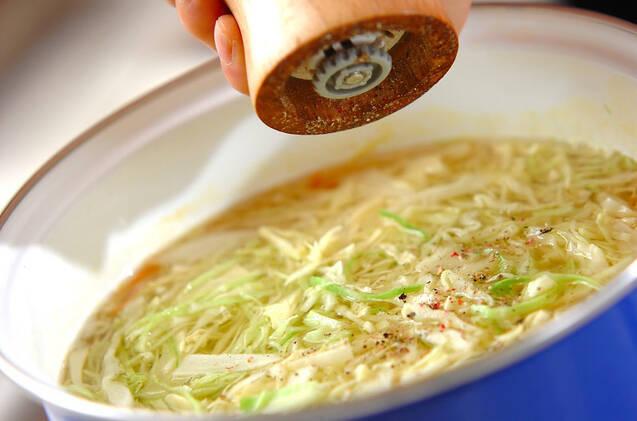 春キャベツのスープの作り方の手順3