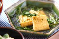 油揚げと青菜の煮物
