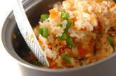 干し貝柱の炊き込みご飯の作り方4
