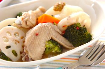 チキンと根菜のスープ煮