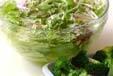 レタスの和風サラダの下準備1